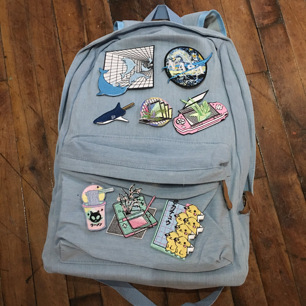 ART VAPORWAVE koko canvas denim backpack