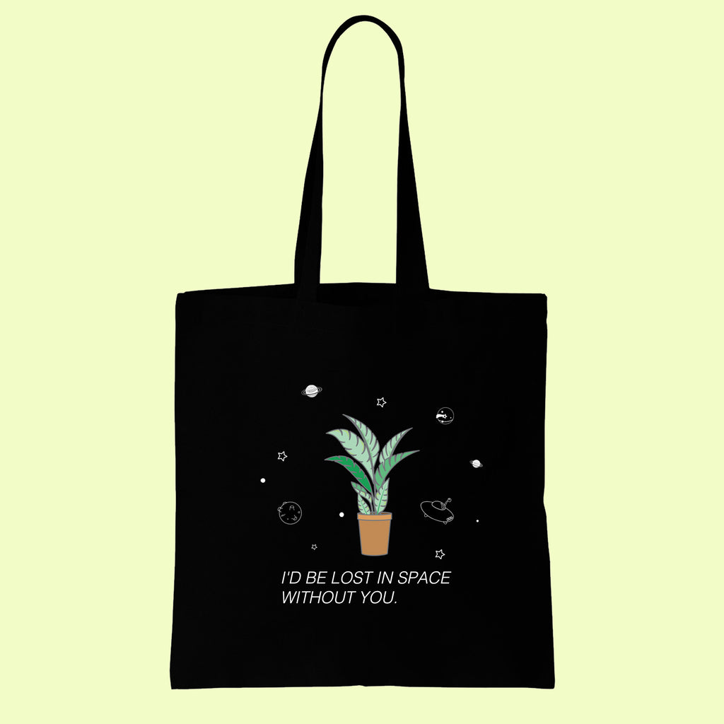 "soft grunge tumblr ""I'd be lost"" TOTE BAG"
