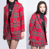 LOVE KILLS TARTAN SKIRT JACKET