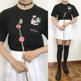 "SOFT GRUNGE ""Just take these flowers"" pocket unisex Tee"