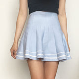 KAWAII Tumblr Grunge aesthetic Pastel Blue High Waisted Skirt