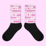 KOKO - KAWAII GRID SOCKS (MADE IN USA- SWEATSHOP FREE)