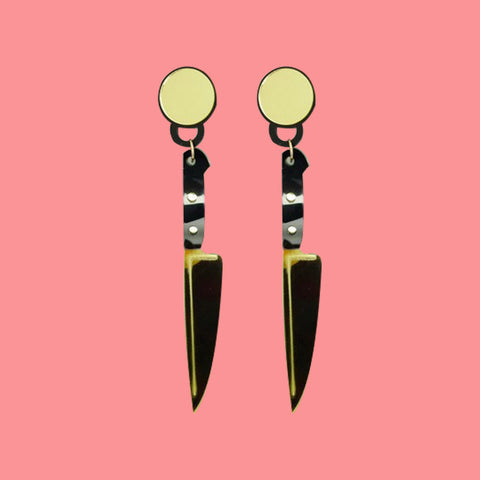 Knife earrings