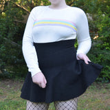 High Waisted Black Skirt (S TO XL SIZE AVAILABLE)