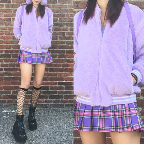 SAMPLE -KOKO FLUFFY LAVENDER JACKET