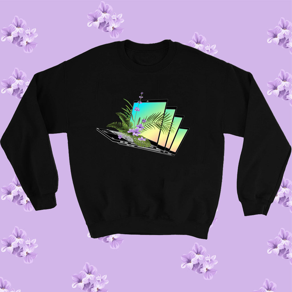 NEW  -REPEATING LAPTOP LAVENDER tumblr aesthetic ART jumper