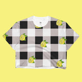 KOKO- Fruit- PLAID VINTAGE 90S INSPIRED- CROP TOP -MADE IN USA (SWEATSHOP-FREE)