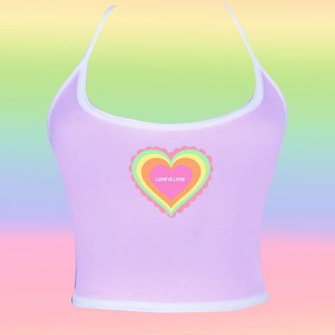 2019 KOKO LOVE IS LOVE HEART CROP TOP