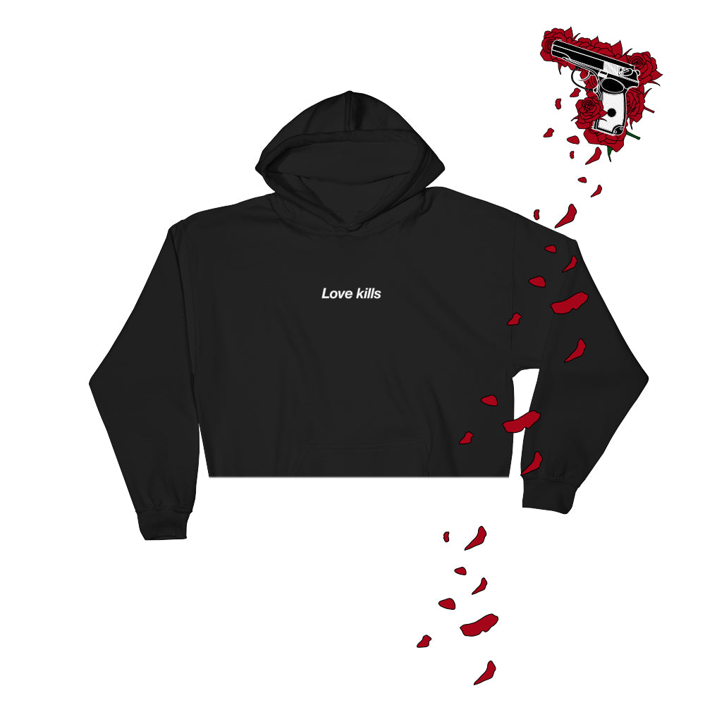 2019 love kills - crop/full UNISEX hoodie