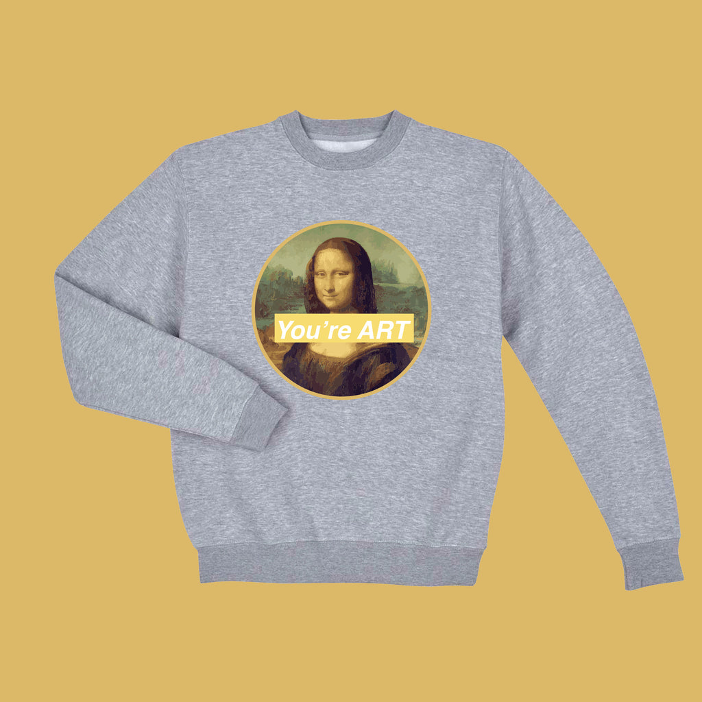 BLACK FRIDAY SALE-MONALISA YOU ARE ART tumblr aesthetic ART jumper