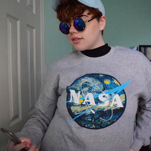 2 YEAR ANNIVERSARY SALE  -NASA tumblr aesthetic ART jumper