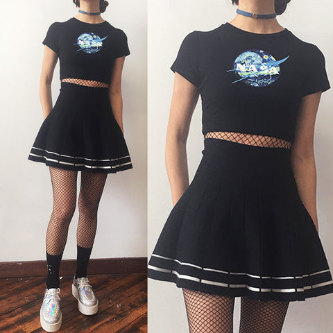 2017 BLACK FRIDAY-NASA CTOP TOP + SKIRT SET (LIMITED ITEM- ONLY PREORDER)