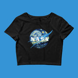 NASA STARRY NIGHT CROP TOP