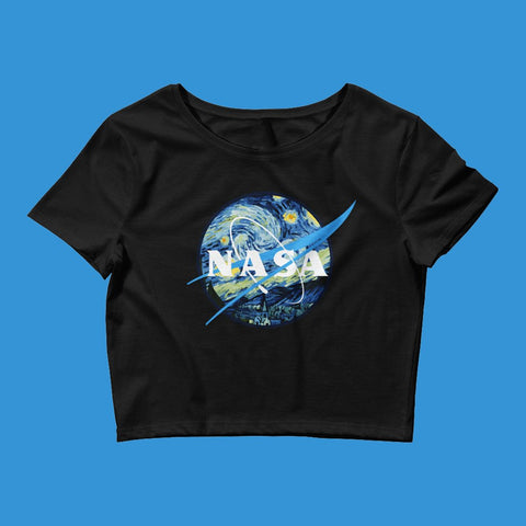 337ae60b34f6e0 NOVEMBER SPECIAL DEAL - NASA STARRY NIGHT CROP TOP