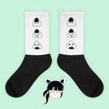 KOKO - KAWAII GRUNGE ONIGIRI TRIO SOCKS (MADE IN USA- SWEATSHOP-FREE)