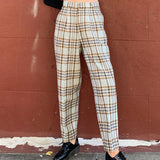 Limited Item - Quality Japanese Vintage Plaid Trousers