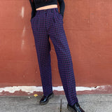 Limited Item - Quality Made in USA Vintage Plaid 100% WOOL Trousers