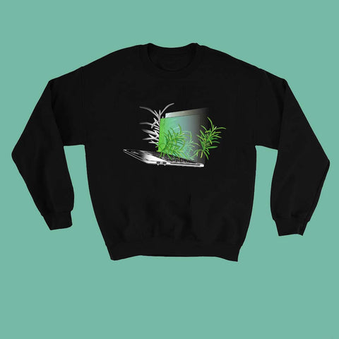 NEW -LAPTOP PLANTS tumblr aesthetic ART jumper