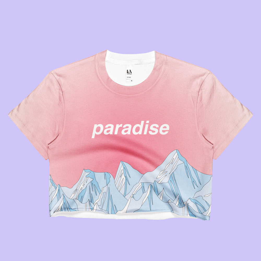 NEW 2017 SUMMER PARADISE CROP TOP -MADE IN USA (SWEATSHOP-FREE)