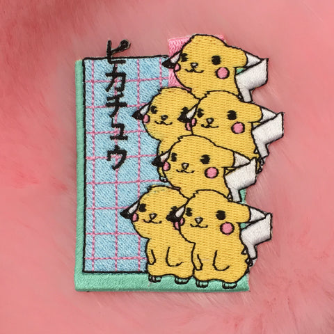 KAWAII PIKAPIKA iron on PATCH