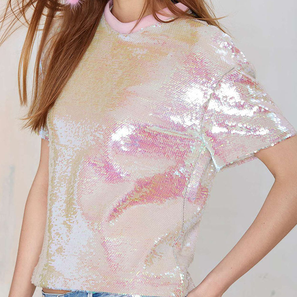 MARCH SALE -SELECTED ITEMS- PINK GLITTER TOP