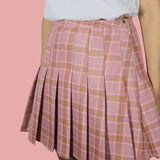 2017 BLACK FRIDAY - PINK KAWAII PLAID SKIRT