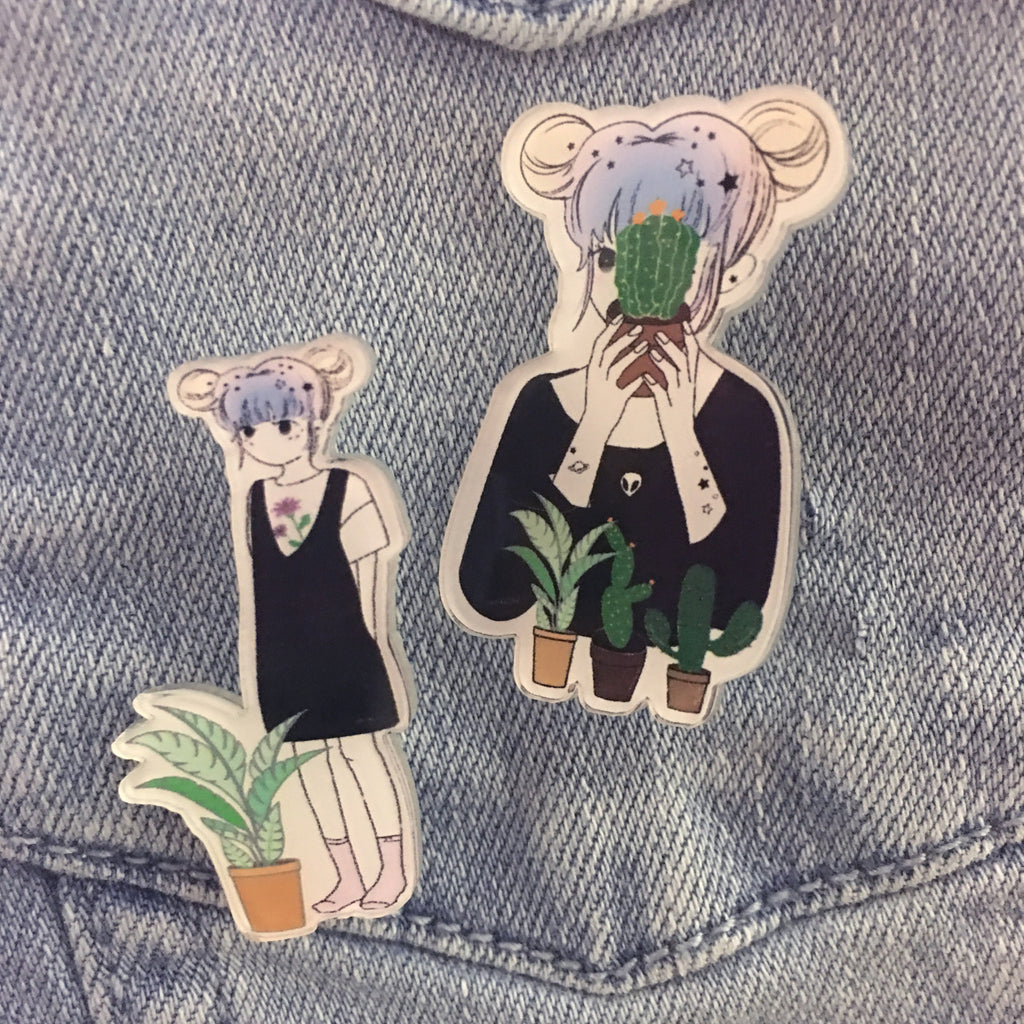 PROMOTION KOKO SAD TEENS WITH HAPPY PLANTS PIN SET