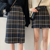 2019 FALL WINTER NEW - Plaid Soft Girl A line Skirt SHORT AND LONG