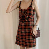 TUMBLR SOFT GIRL - VINTAGE STYLE PREPPY PLAID DRESS