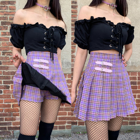 "2019 ""I PURPLE U"" - KAWAII GOTH TUMBLR OUTFIT SET"