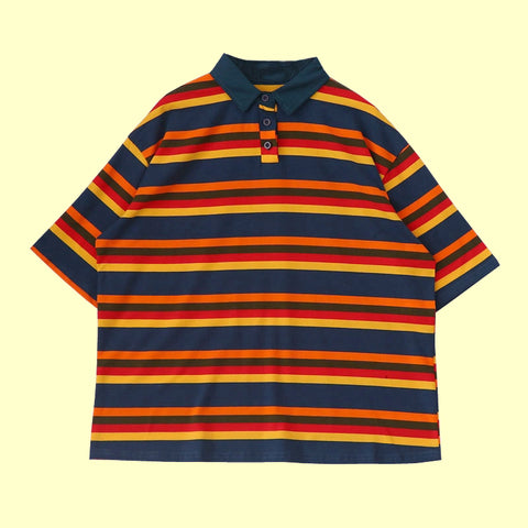2019 NEW- Rainbow ART HOE polo top