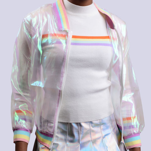 KOKO Holo Sheer Iridescent Jacket