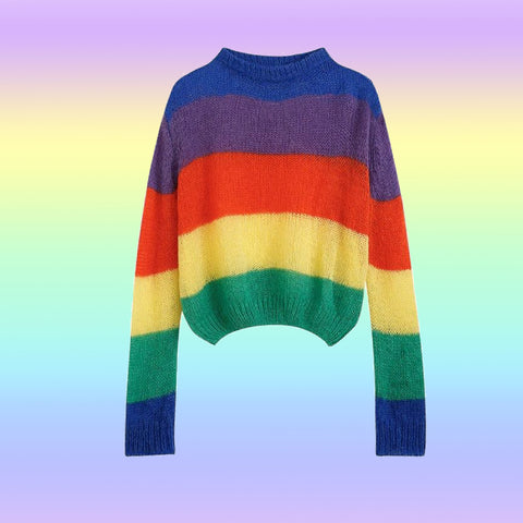 KAWAII COLORFUL RAINBOW SWEATERS