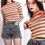 LOVE IS LOVE- RAINBOW KNIT TOP
