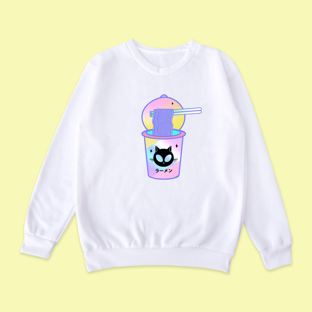 Cat Alien Cup Ramen jumper