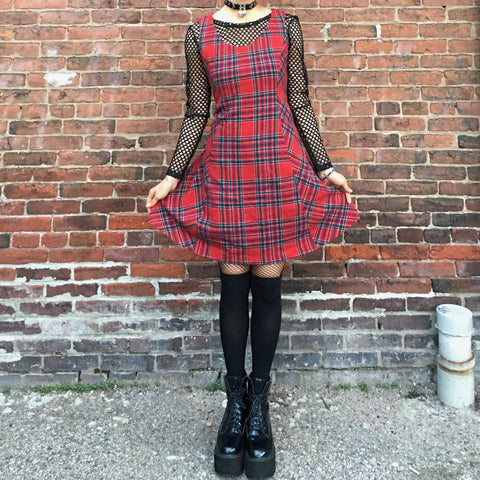 Vintage Red plaid dress