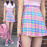 2019 KAWAII CANDY PASTEL RAINBOW SKIRT