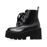 KAWAII GOTH GRUNGE RING LACE BOOTS