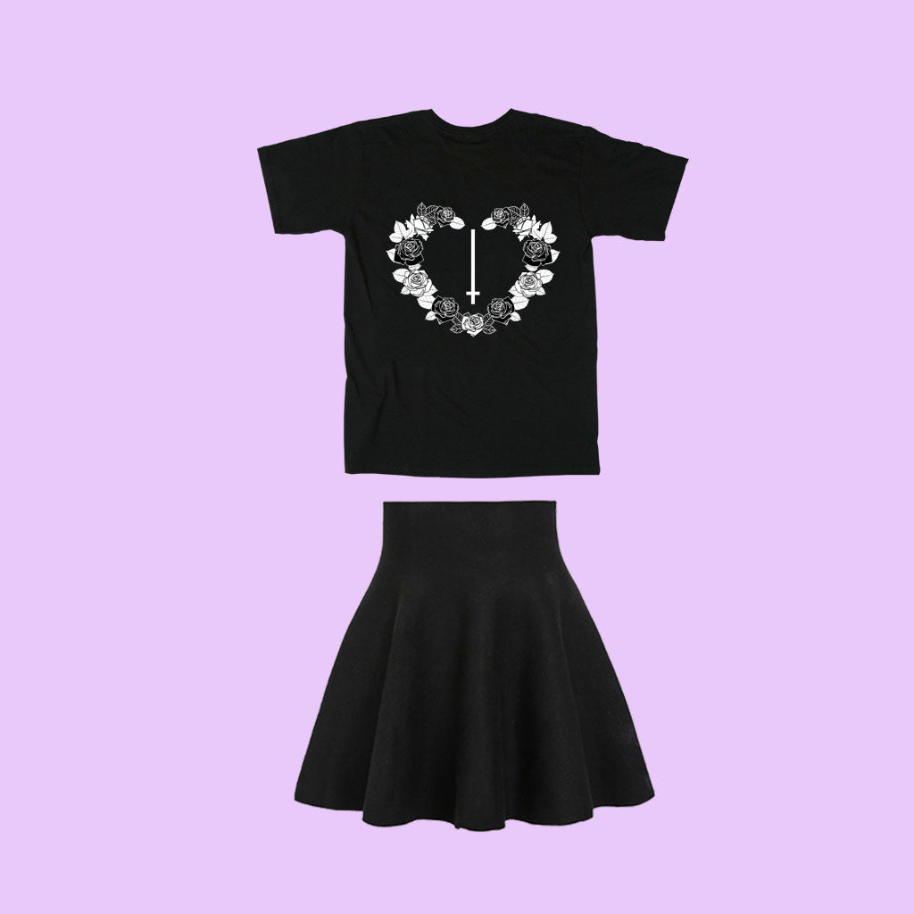BLACK FRIDAY SALE-GOTH ROSE HEART set