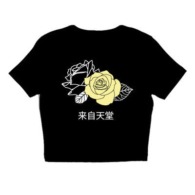 rose FROM HEAVEN CROP TOP