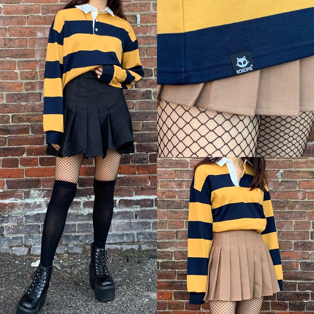 NEW BEE HAPPY COLLECTION- LONG SLEEVE CROP TOP