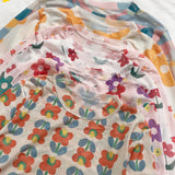 2019 SOFT GRUNGE SHEER FLOWER PRINTED TOP