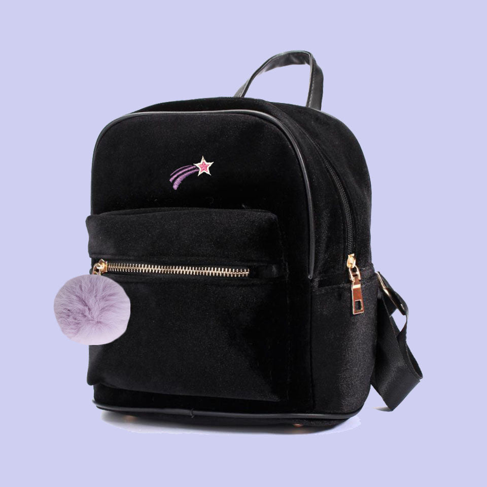 KOKO SHOOTING STAR VELVET MINI BACKPACK