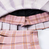 2018 KAWAII PLAID PLEATED SKIRT