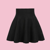 GRUNGE GOTH KOKO High Waisted Black Skirt