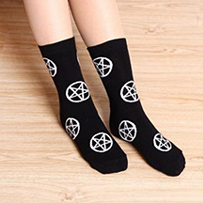 GOTH STAR GRUNGE SOCKS