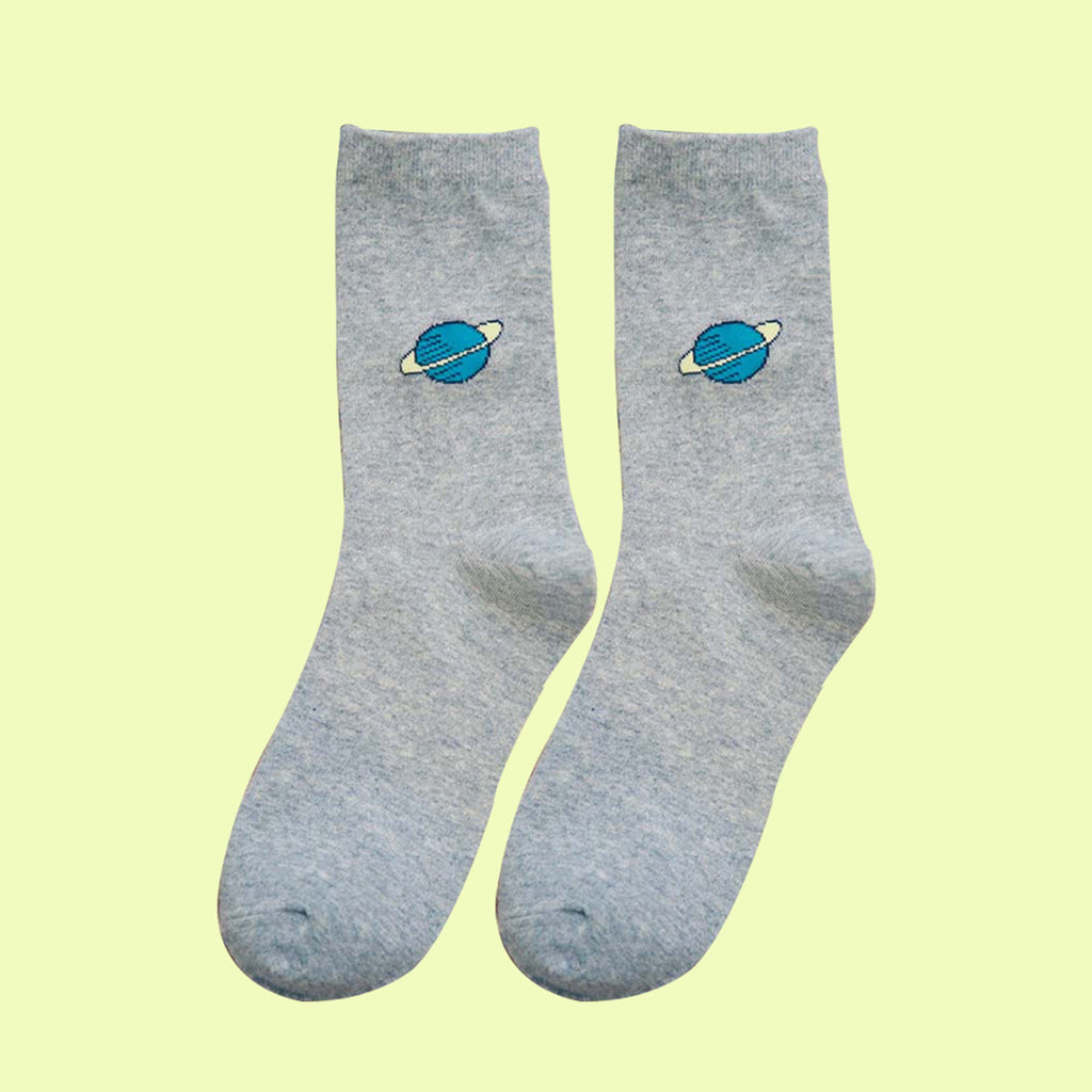 GREY OUTER SPACE SOCKS
