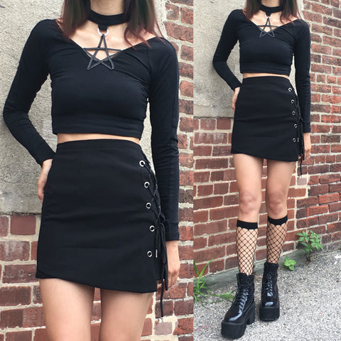 2019 new limited item - MOON CHILD Collection - star choker crop top