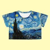 Valentine's Day SALE-Starry Night crop top