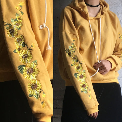 2017 BLACK FRIDAY - LIMITED TIME -KOKO - FLOWER CHILD SUNFLOWER HOODIE jumper
